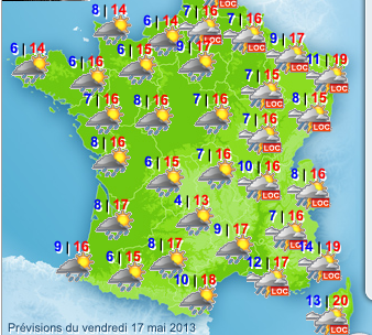 Map Of France Weather.France Weather Map